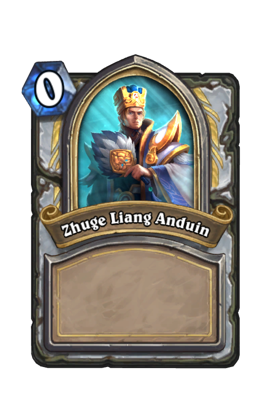 Zhuge Liang Anduin Hearthstone kártya