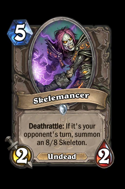 Skelemancer Hearthstone kártya