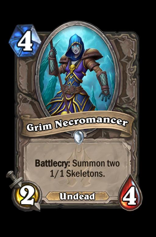 Grim Necromancer Hearthstone kártya