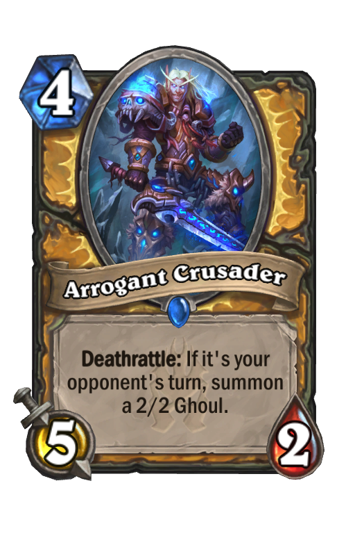 Arrogant Crusader Hearthstone kártya