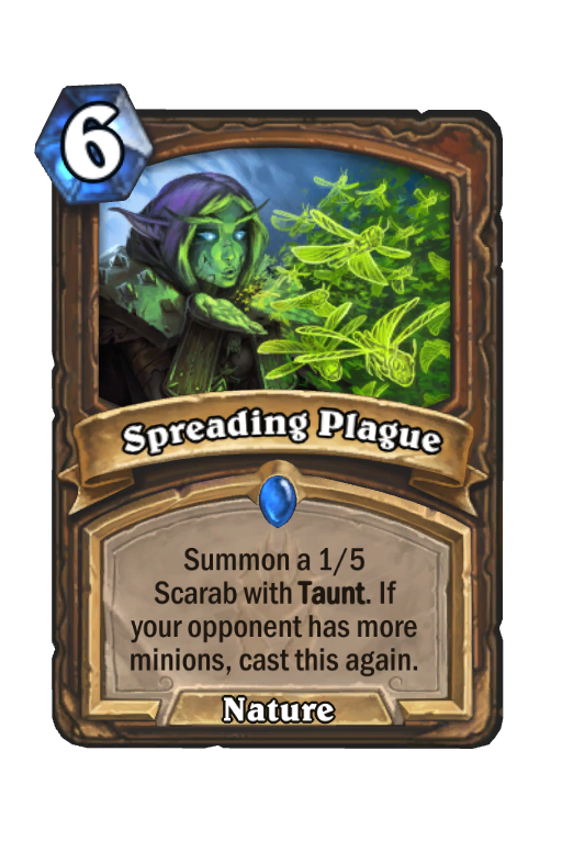 Spreading Plague Hearthstone kártya