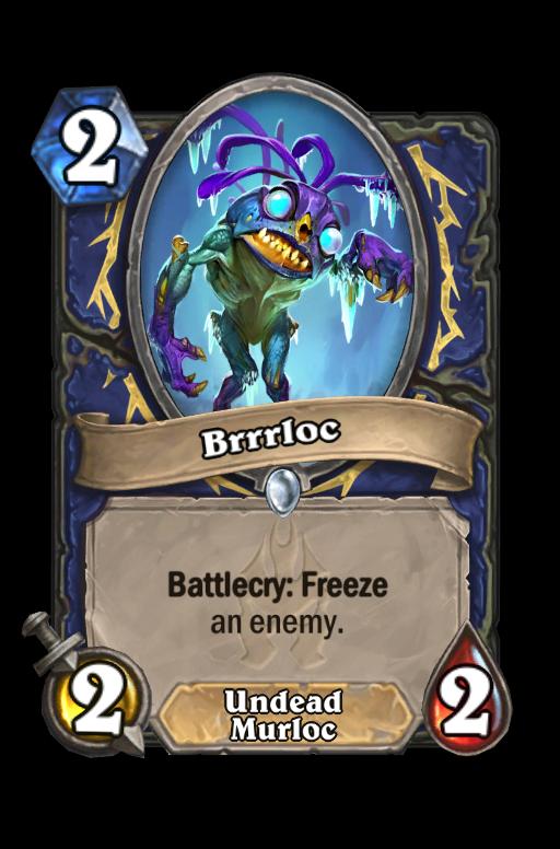 Brrrloc Hearthstone kártya