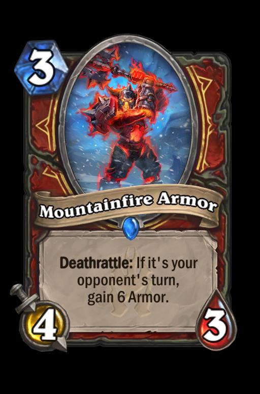Mountainfire Armor Hearthstone kártya