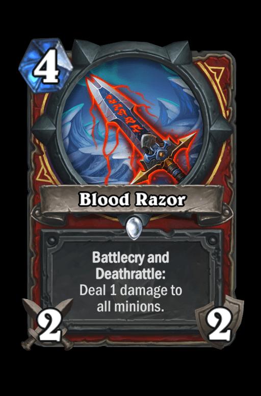Blood Razor Hearthstone kártya