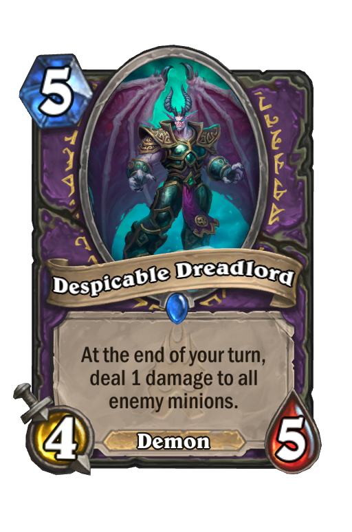 Despicable Dreadlord Hearthstone kártya