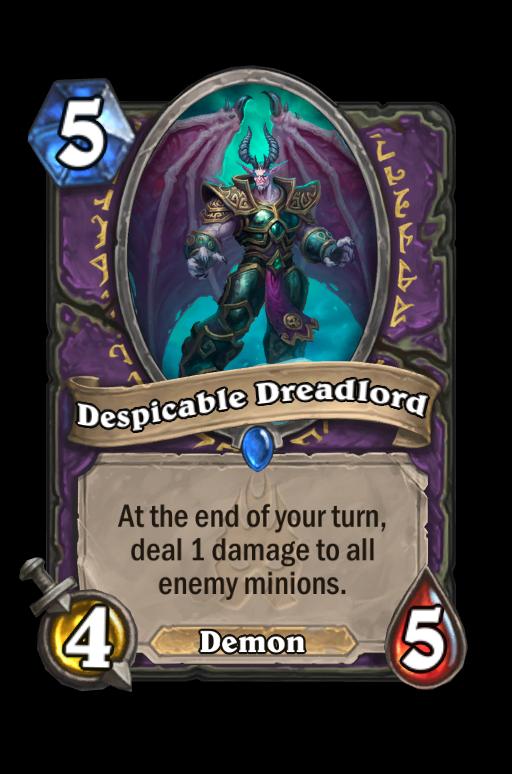 Despicable Dreadlord Hearthstone kártya