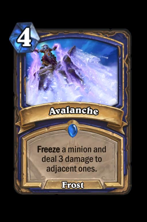 Avalanche Hearthstone kártya