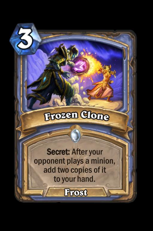 Frozen Clone Hearthstone kártya