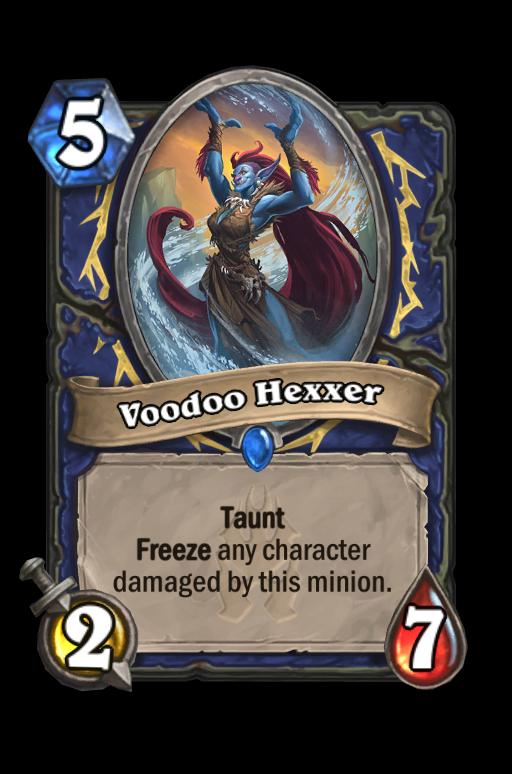 Voodoo Hexxer Hearthstone kártya