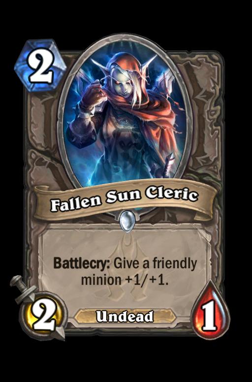 Fallen Sun Cleric Hearthstone kártya