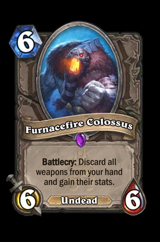 Furnacefire Colossus Hearthstone kártya