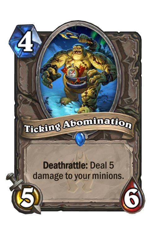 Ticking Abomination Hearthstone kártya