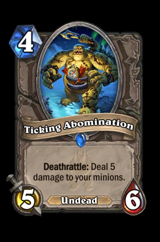 Ticking Abomination Hearthstone kártya