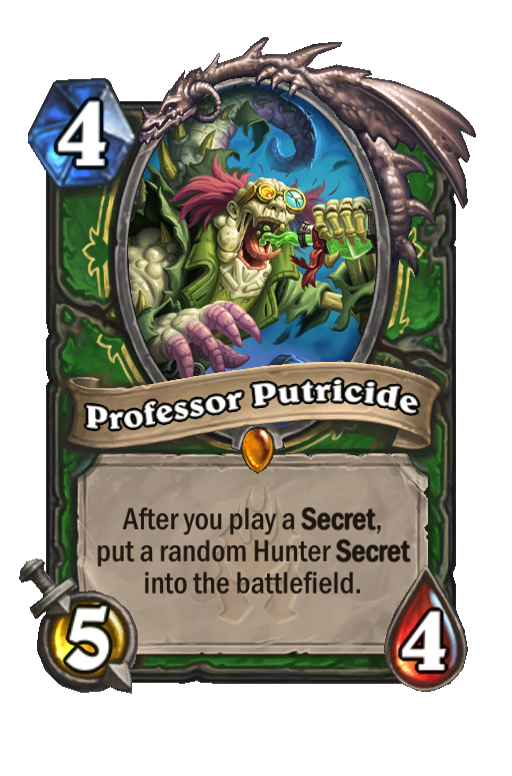 Professor Putricide Hearthstone kártya