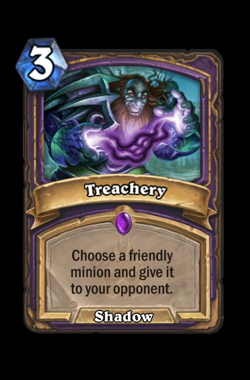 Treachery Hearthstone kártya