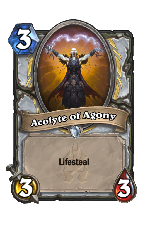 Acolyte of Agony Hearthstone kártya