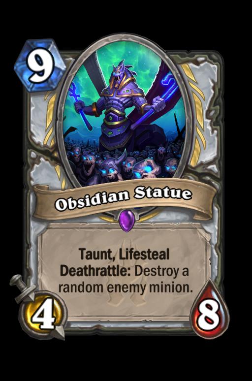 Obsidian Statue Hearthstone kártya