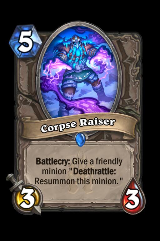 Corpse Raiser Hearthstone kártya