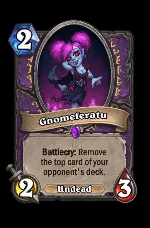 Gnomeferatu Hearthstone kártya