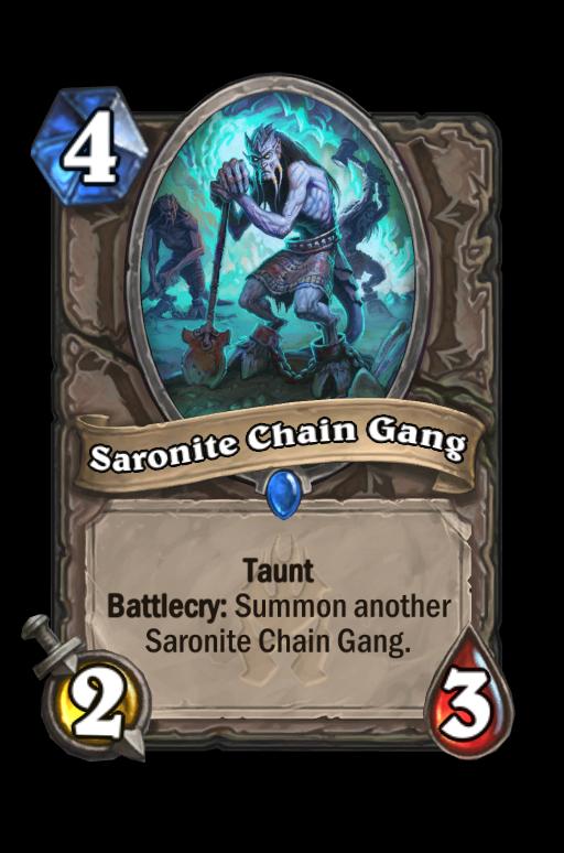 Saronite Chain Gang Hearthstone kártya