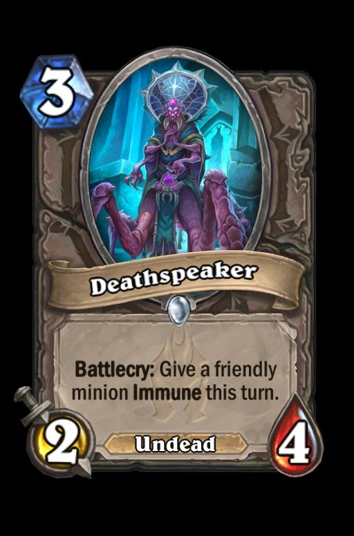 Deathspeaker Hearthstone kártya