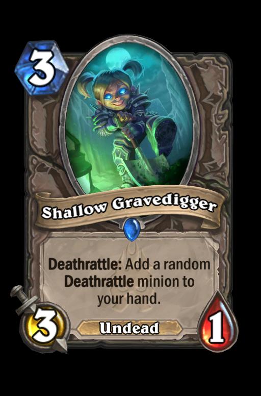 Shallow Gravedigger Hearthstone kártya