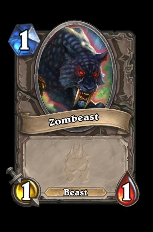 Zombeast Hearthstone kártya