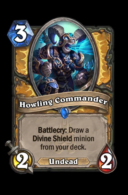 Howling Commander Hearthstone kártya