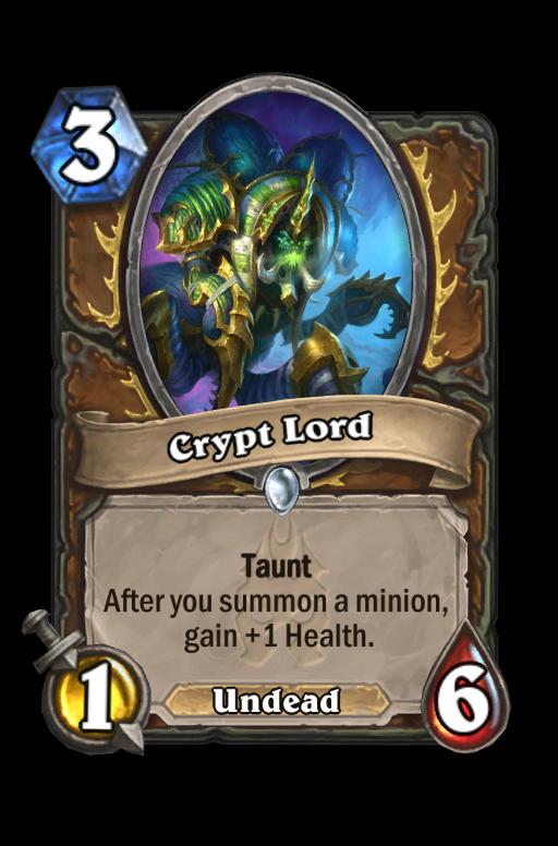 Crypt Lord Hearthstone kártya