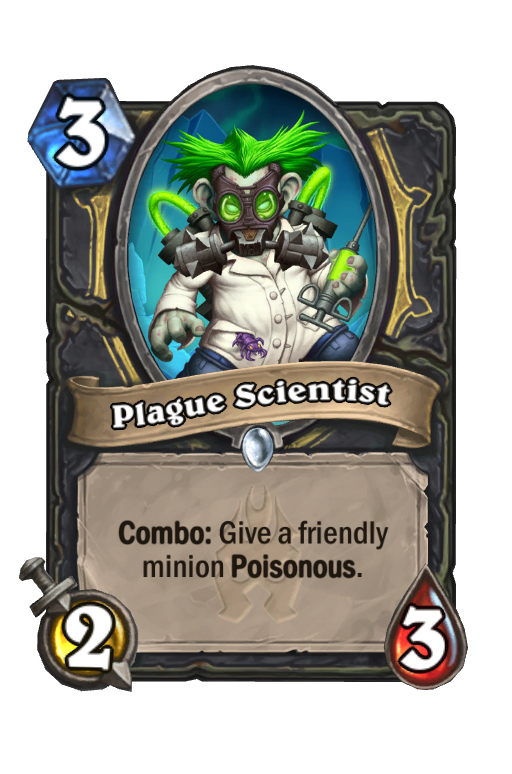 Plague Scientist Hearthstone kártya