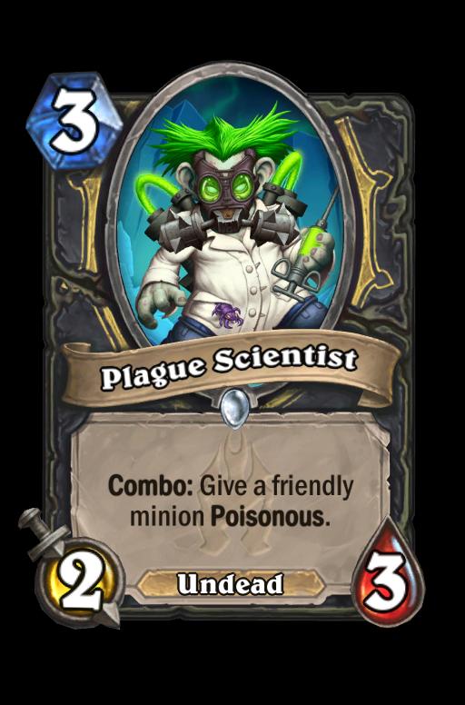 Plague Scientist Hearthstone kártya