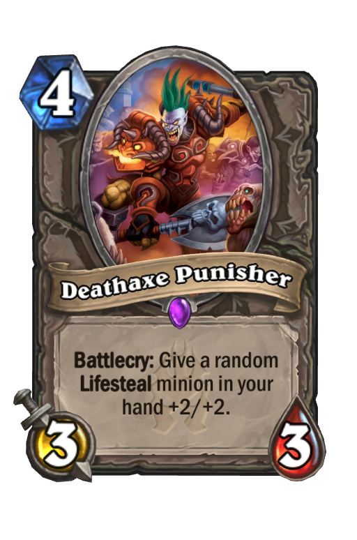 Deathaxe Punisher Hearthstone kártya