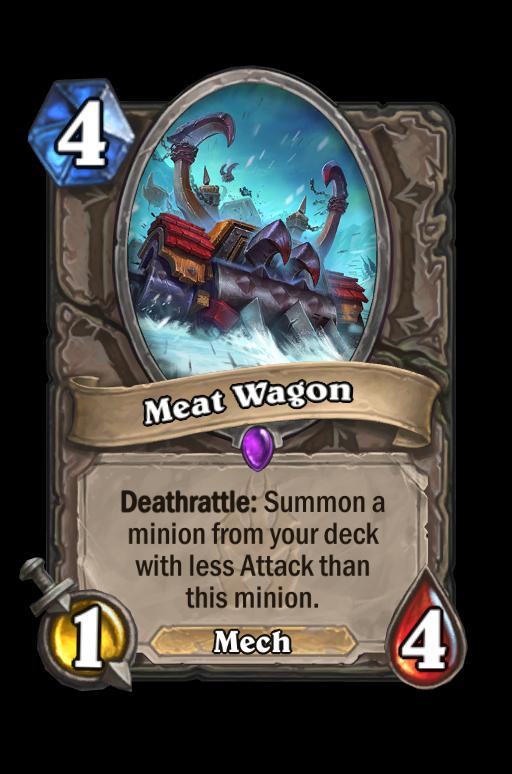 Meat Wagon Hearthstone kártya