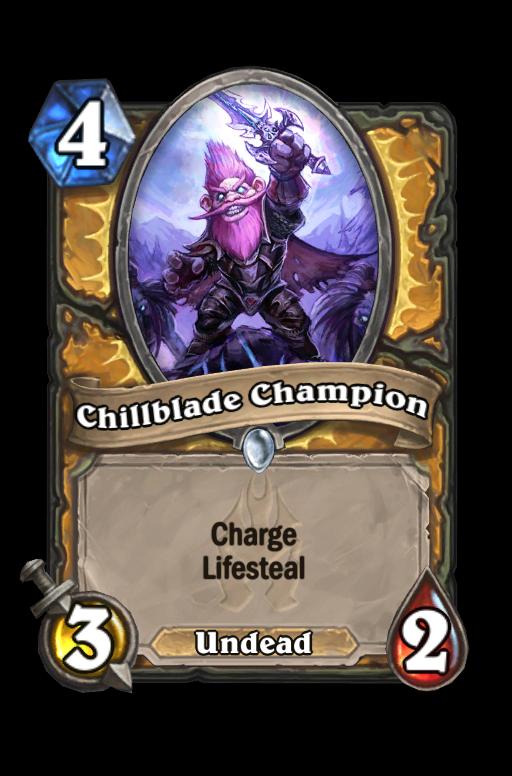 Chillblade Champion Hearthstone kártya