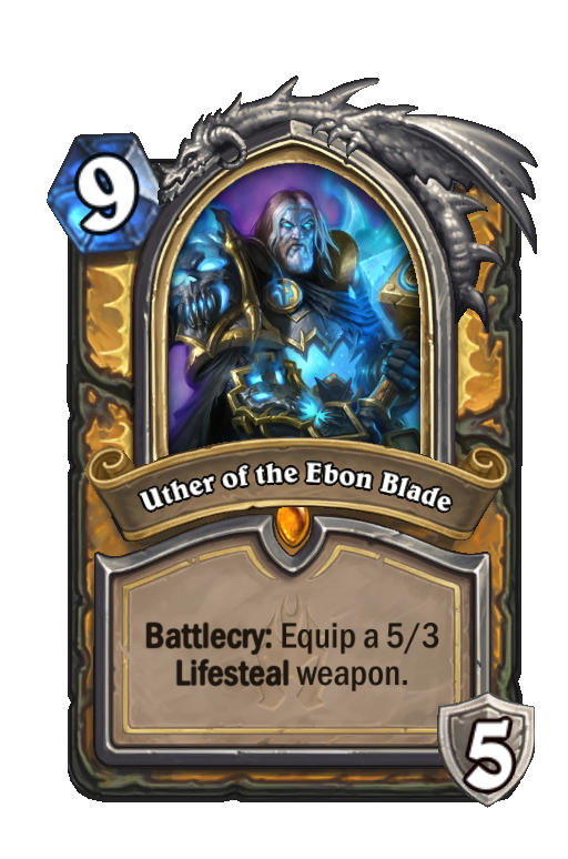 Uther of the Ebon Blade Hearthstone kártya