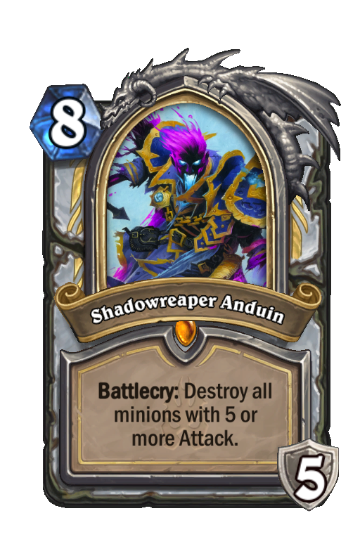 Shadowreaper Anduin Hearthstone kártya