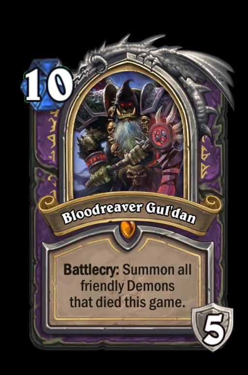 Bloodreaver Gul'dan Hearthstone kártya