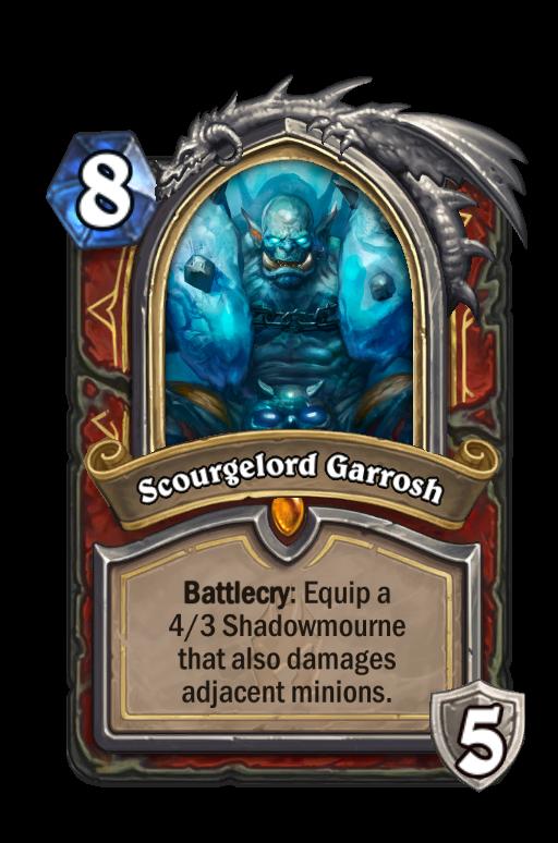 Scourgelord Garrosh Hearthstone kártya