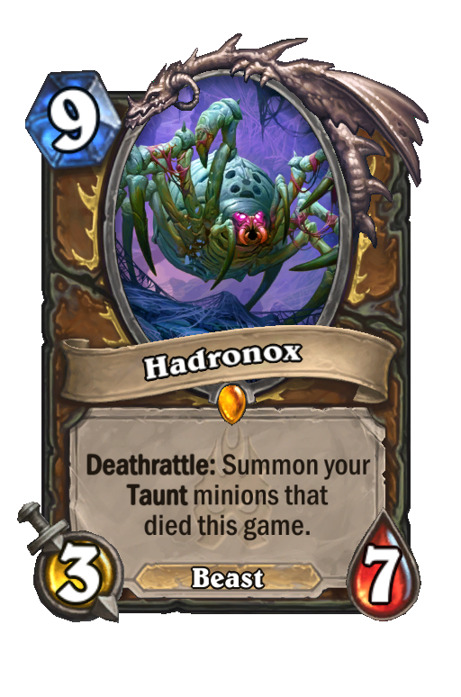 Hadronox Hearthstone kártya
