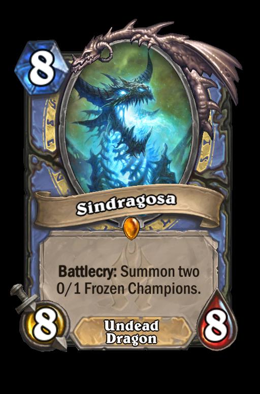 Sindragosa Hearthstone kártya
