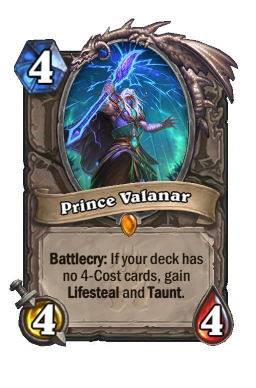 Prince Valanar Hearthstone kártya