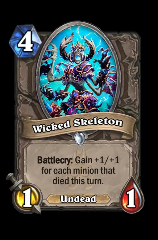 Wicked Skeleton Hearthstone kártya