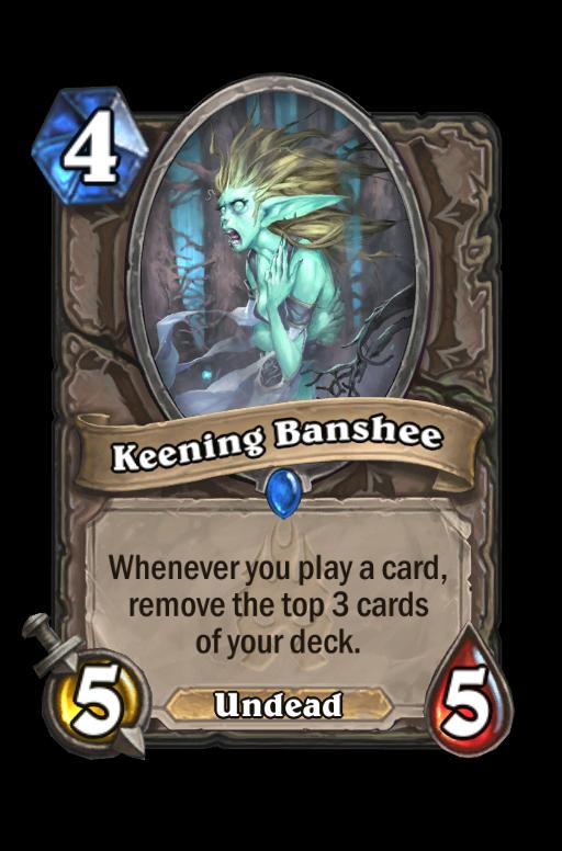 Keening Banshee Hearthstone kártya
