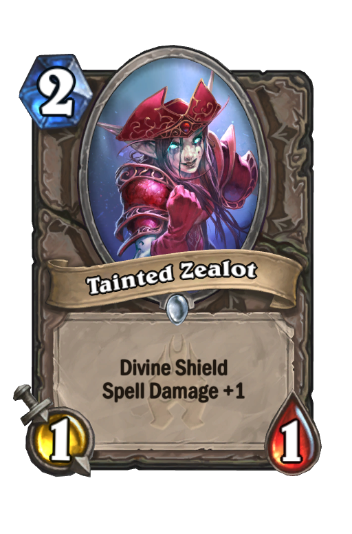 Tainted Zealot Hearthstone kártya