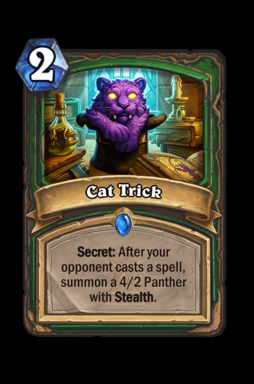 Cat Trick Hearthstone kártya