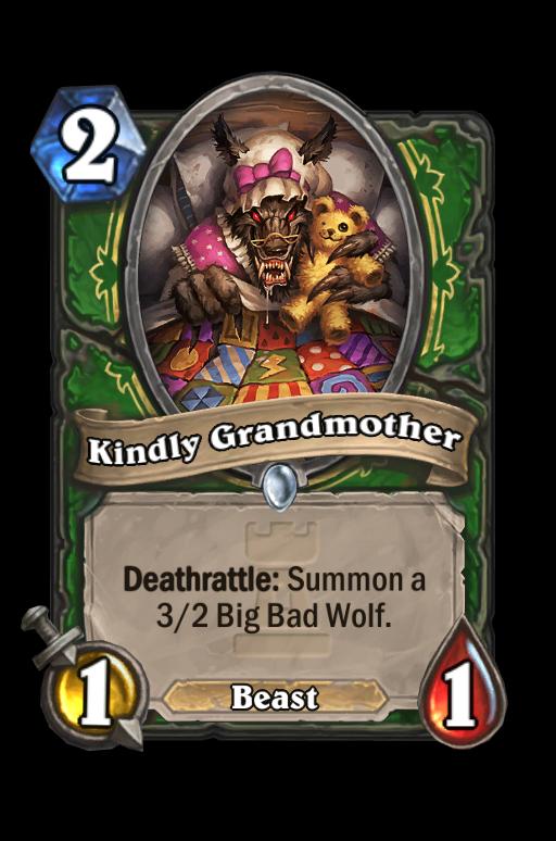 Kindly Grandmother Hearthstone kártya