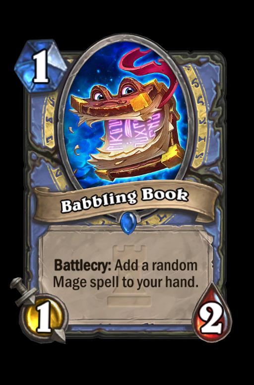 Babbling Book Hearthstone kártya