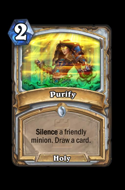 Purify Hearthstone kártya