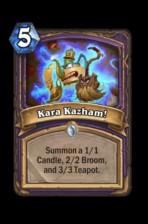 Kara Kazham! Hearthstone kártya