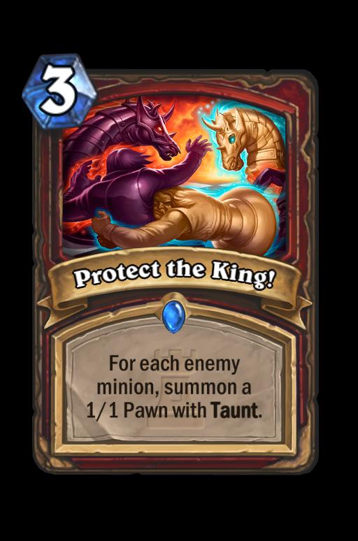 Protect the King! Hearthstone kártya